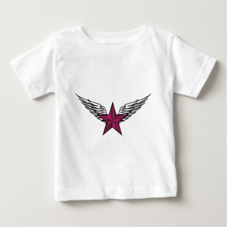 pink star with wings baby T-Shirt
