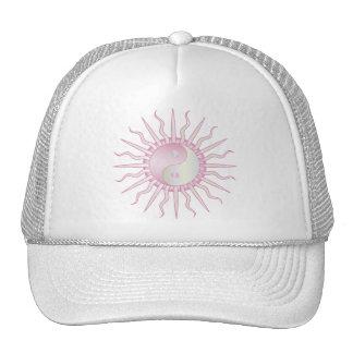 Pink Starburst Yin Yang Hat