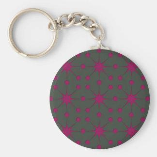 Pink Starbursts Keychain