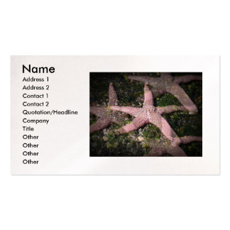 Pink Starfish Business Card
