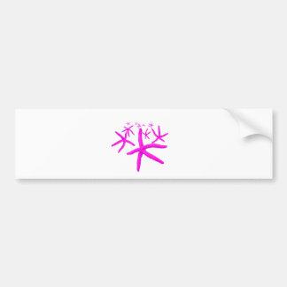 pink starfish car bumper sticker
