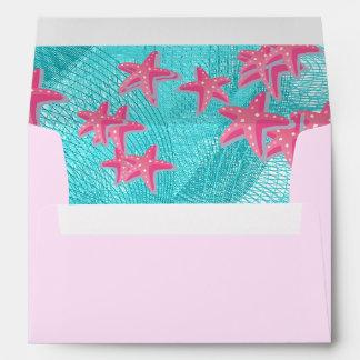 Pink starfish envelope