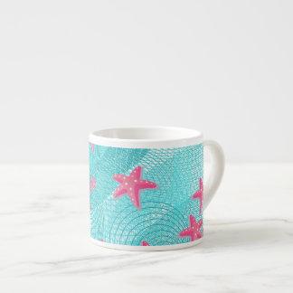 Pink starfish espresso cup