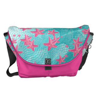 Pink starfish courier bag