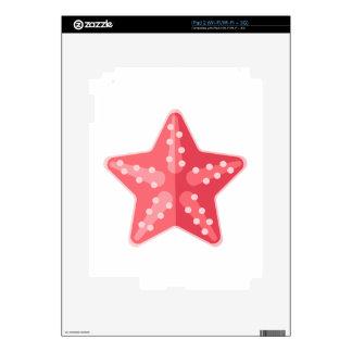 Pink Starfish Primitive Style iPad 2 Decals