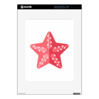 Pink Starfish Primitive Style Skin For The iPad