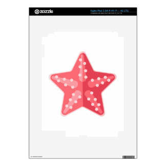 Pink Starfish Primitive Style Skins For iPad 3