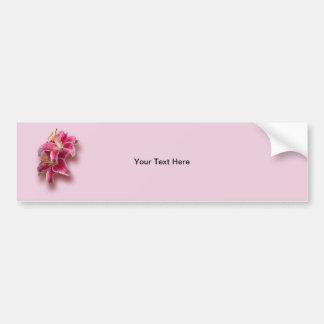 Pink Stargazer Lilies Bumper Sticker