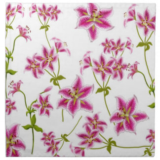 Pink Stargazer Lilies Napkin