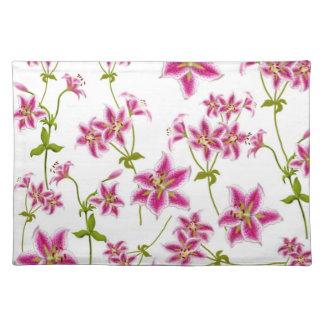 Pink Stargazer Lilies Placemat