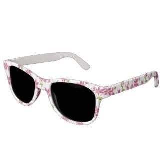 Pink Stargazer Lilies Polarized Sunglasses