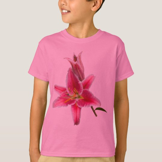 Pink Stargazer Lily and Bud T-Shirt