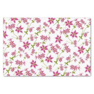Pink Stargazer Lily Floral Tissue Paper