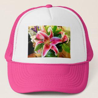 pink stargazer lily hat
