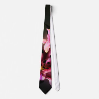 Pink Stargazer Lily Neck Tie