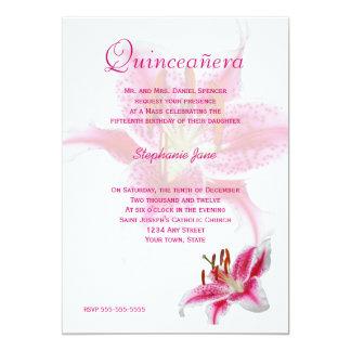 Pink Stargazer Quinceañera Invitation