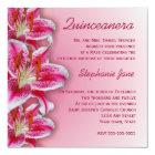 Pink Stargazer Quinceanera Invitation