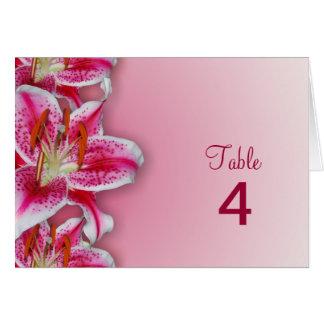 Pink Stargazer Table Card