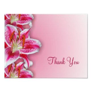 Pink Stargazer Thank You Card