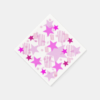 Pink Stars and Stripes Napkins