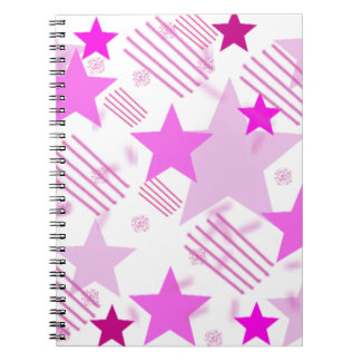 Pink Stars and Stripes Spiral Notebook