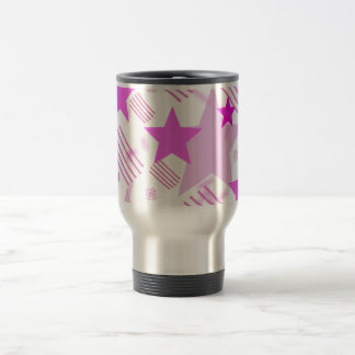 Pink Stars and Stripes Travel Mug
