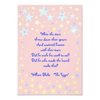 Pink Stars Baby Shower Invitation