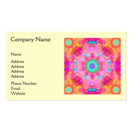 Pink Stars & Bubbles Fractal Pattern Business Cards