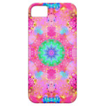 Pink Stars & Bubbles Fractal Pattern iPhone 5 Case