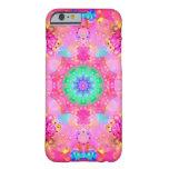 Pink Stars & Bubbles Fractal Pattern iPhone 6 Case