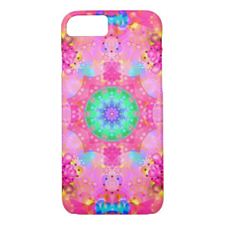 Pink Stars & Bubbles Fractal Pattern iPhone 8/7 Case