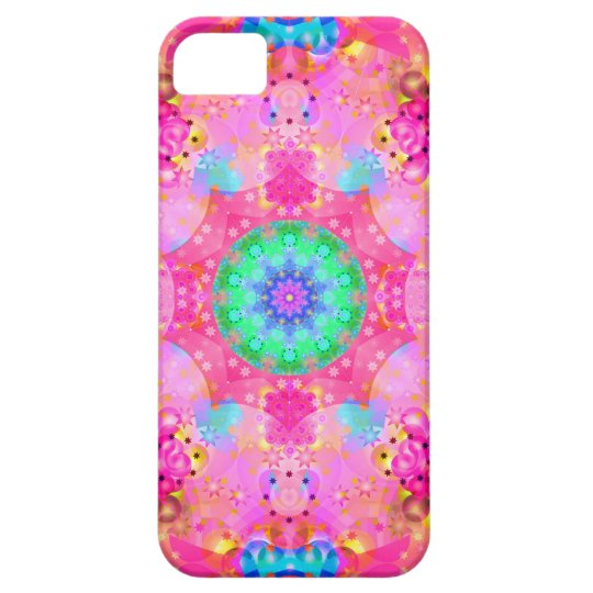 Pink Stars & Bubbles Fractal Pattern iPhone SE/5/5s Case