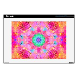 """Pink Stars & Bubbles Fractal Pattern Skins For 13"""" Laptops"""