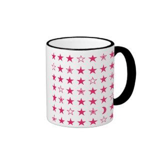 Pink Stars Coffee Mugs