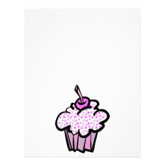 pink stars cupcake flyer