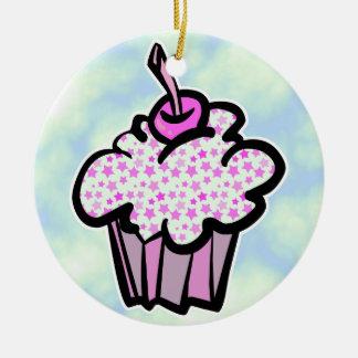 pink stars cupcake christmas tree ornaments