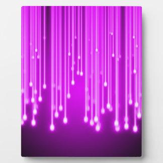 Pink stars falling display plaque