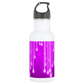 Pink stars falling stainless steel water bottle