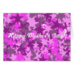 Pink Stars - Happy Mother's Day! Greeting Card