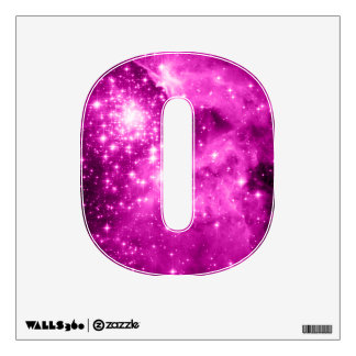 Pink Stars Letter Wall Sticker