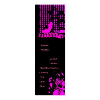 Pink Stars Mini Business Card