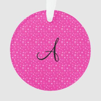 Pink stars monogram gifts