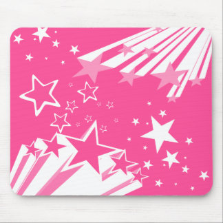 Pink Stars Mouse Pad