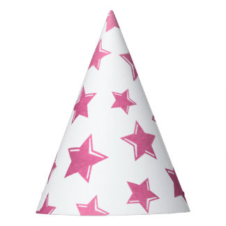 Pink Stars Party Hat