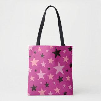 Pink Stars Pattern 2 Tote Bag