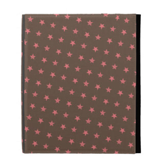Pink Stars Pattern iPad Folio Cases
