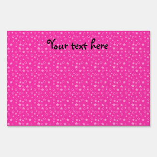 Pink stars pattern yard sign