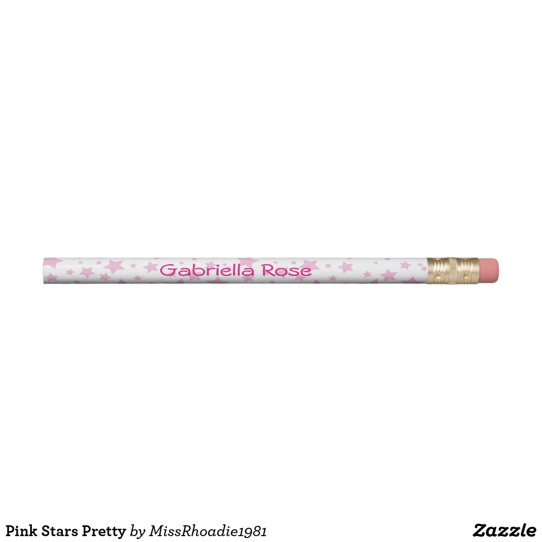 Pink Stars Personalized