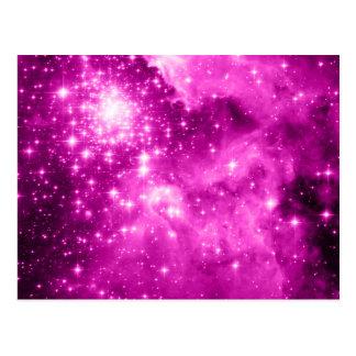 Pink Stars Postcard