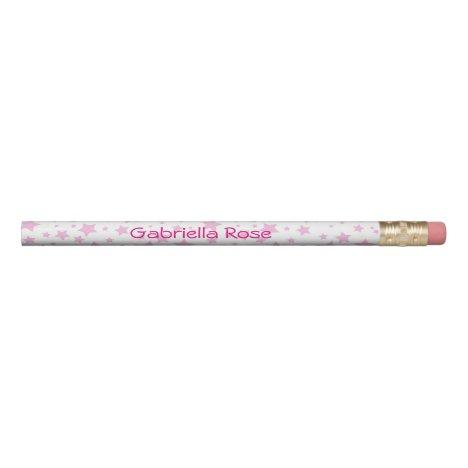 Pink Stars Pretty Pencil